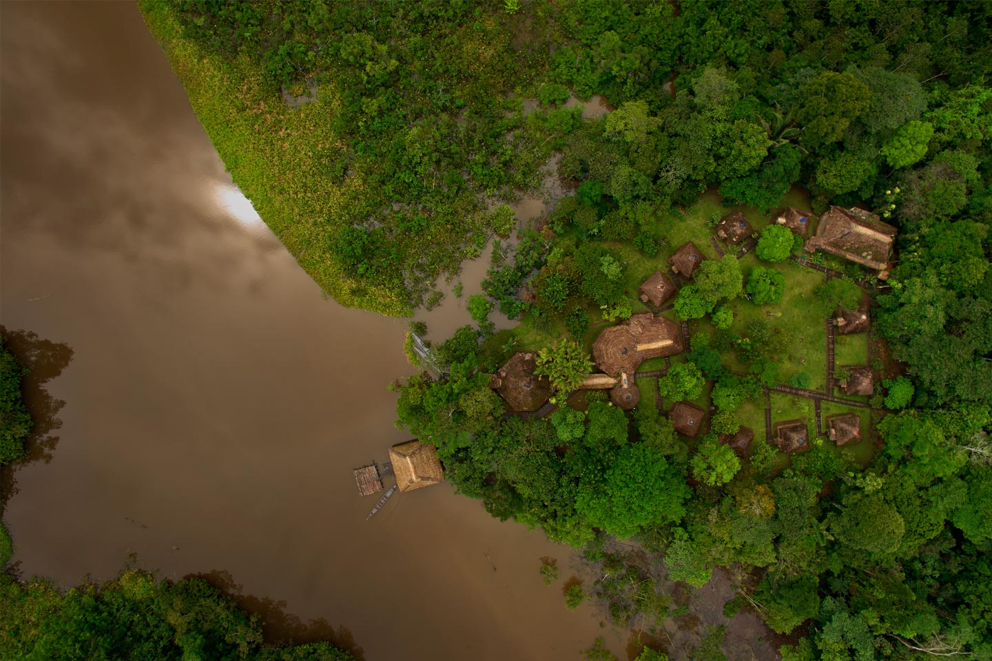 Aerial view of Sani Lodge